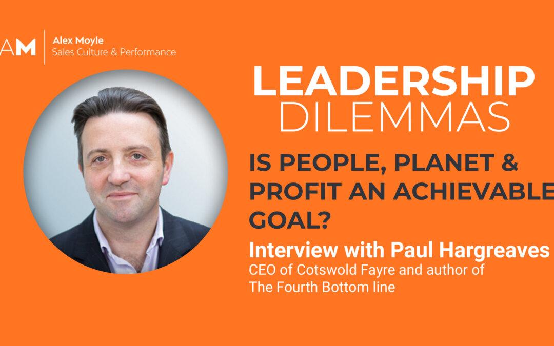 Is People, Planet & Profit An Achievable Goal?